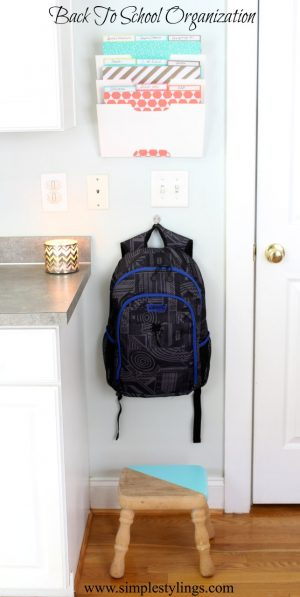 Create a mini command center for the kiddos right by the front door. This is awesome! Repin if you agree!
