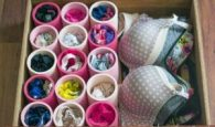 Organize your underwear drawer with pvc pipe. Repin!