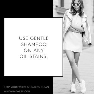 Remove oil stains on your shoes with shampoo. Repin!