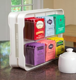 This tea organizer is just what my kitchen needs, Repin if you agree!