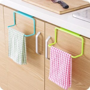 This towel rack holder is just what my kitchen needs. Repin if you agree!