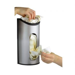 I love organizing my grocery bags with this dispenser. Pin if you would like one in your kitchen!