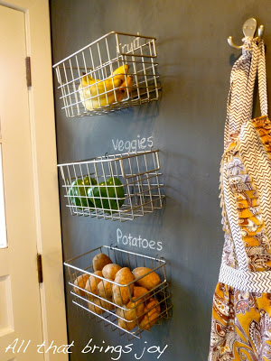 I love this idea of storing my fruits and veggies. Repin if you agree!