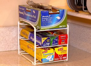 Organize all of your kitchen wrap with these neat little rack. Pin if you think this will look good in your kitchen!