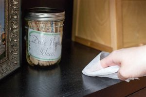 Use dryer sheets to repel dust from your furniture and baseboards.