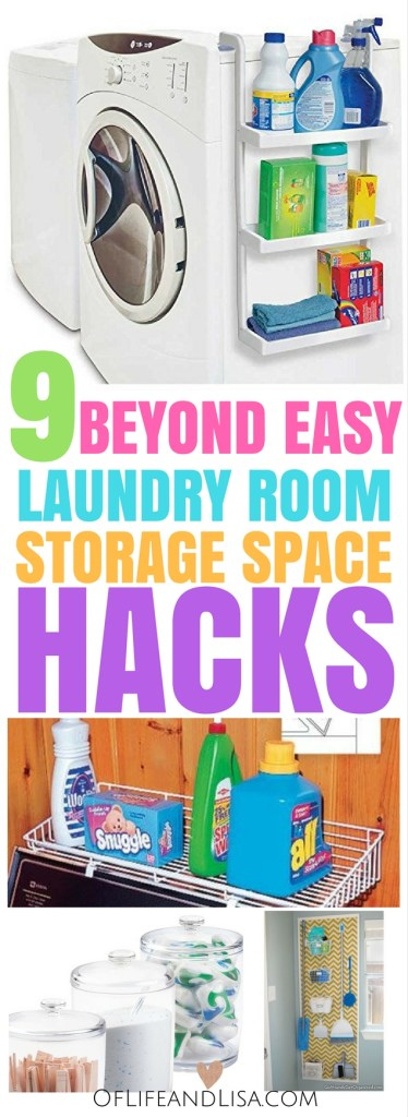 Quick and easy ways to maximize storage space in a small laundry room. Repin for later!