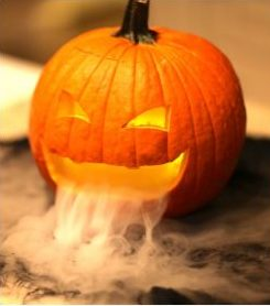 Smoking pumpkins for halloween! I love this idea! Repinning for later.
