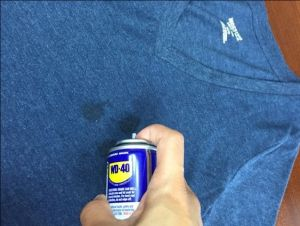 For set in oil stains, use wd-40. Read this post to know what to do next.