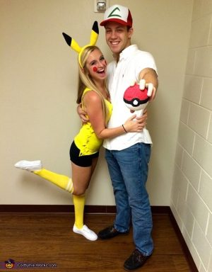 So cute! Instead I would be Ash and I would make my husband Pikachu lol Love This Repin!