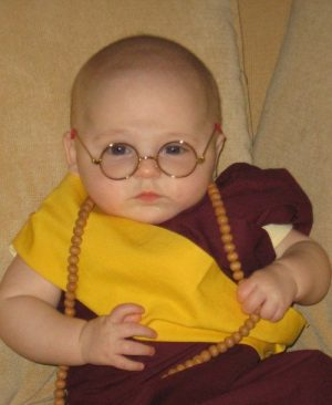 Dalai Lama baby halloween costume idea. How cute!