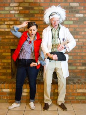 Doc and Marty McFly! Back to the Future couples costume. I really like this!