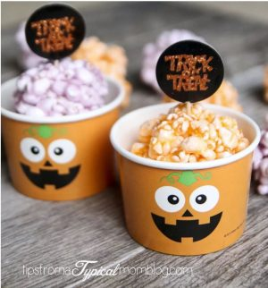 Halloween food idea- Popcorn jello balls!
