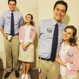 THe Office- Pam Beesly and Jim Halpert Halloween Costume. Repin!