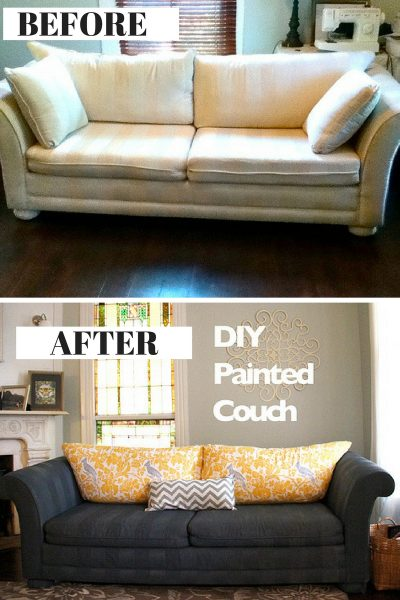 Transform an old couch by painting it!