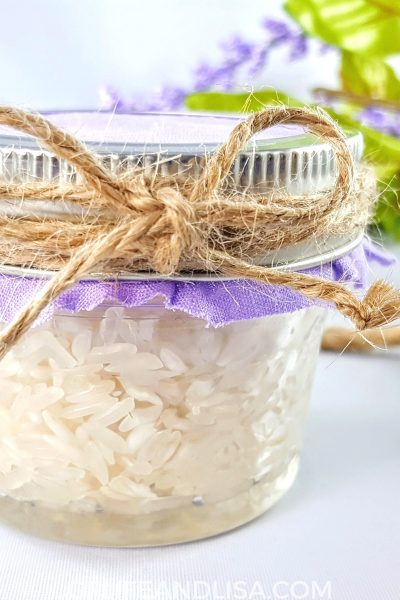Make your own air fresheners with essential oils and rice.