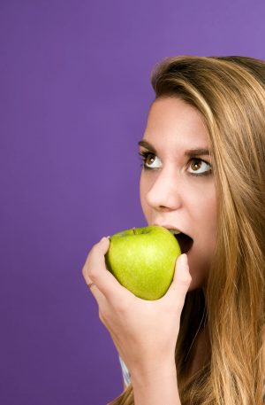 Eat an apple a day to keep the doctor away, literally. Eating apples can help relieve headaches and migraines due to the flavonoids found in the fruit.