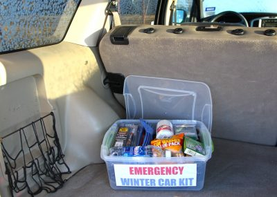 Make a emergency car kit for the winter. Always be prepared!