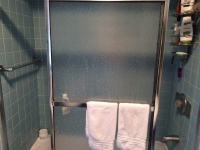After taking a shower, slide in the doors to allow it to air out and prevent mold growth.