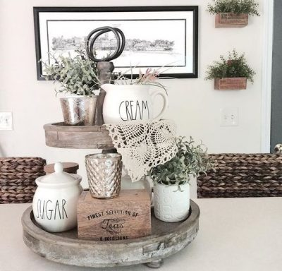 This kitchen display is lovely. I would like to make this for my counter top.