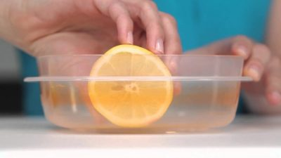 Your cleaning efforts can go really far with just a slice of lemon.