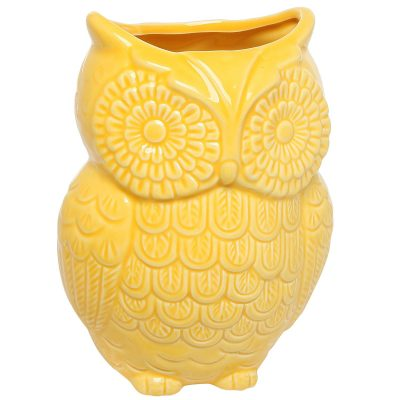 yellow mygift owl utensil holder e1521226190899 - 10 Must-Have Yellow Accessories That'll Brighten Your Kitchen