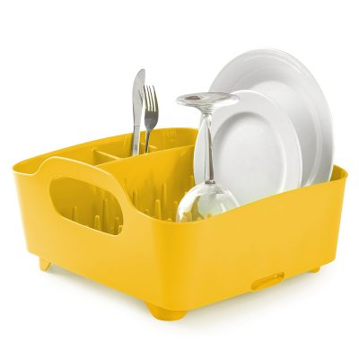 yellow umbra tub dish drying rack e1521221735138 - 10 Must-Have Yellow Accessories That'll Brighten Your Kitchen