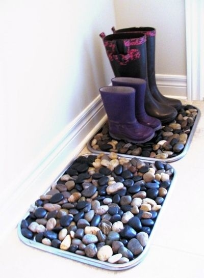 boot tray for entryway - 11 of the BEST Organizing Ideas for Your First Home