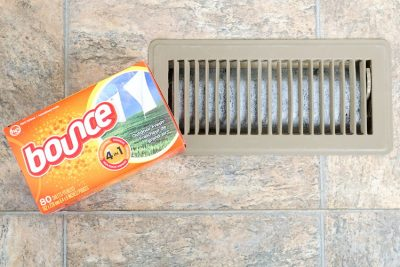 Put a few dryer sheets in the vents around your home to keep it smelling fresh year round.