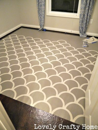 Use cheap vinyl flooring to create flooring that matches your style.