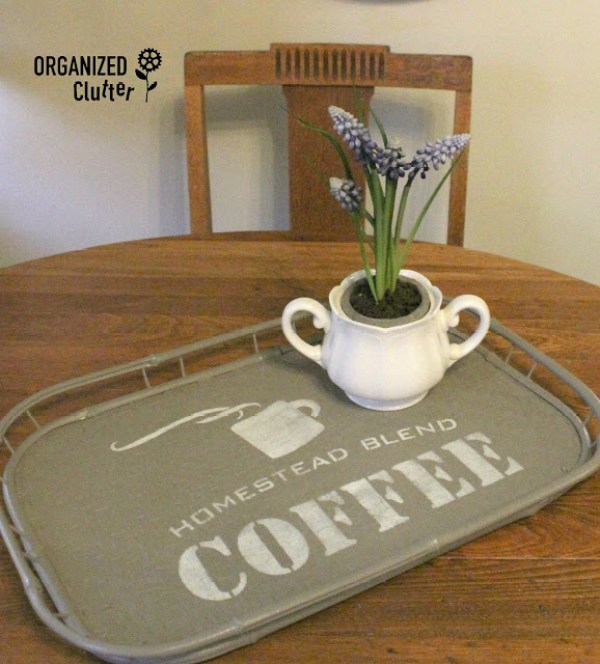 coffee tray after - 10 Simple Thrift Store Makeover Ideas You'll Want to Steal