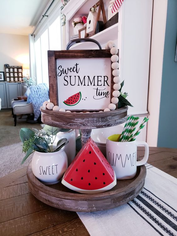 Super cute watermelon tray for summer