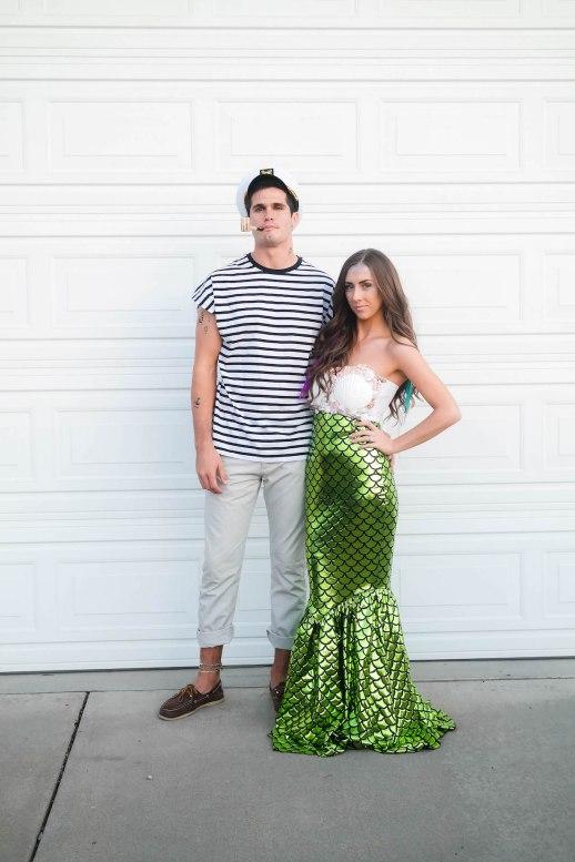 sailor and mermaid halloween costume couple - 50 Best Couples Halloween Costume Ideas for 2019