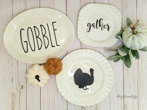 diy fall decorative plates 1 - 30+ Fall Craft Ideas to Make and Sell for Extra Money