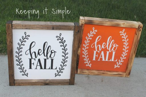 diy hello fall wood sign - 30+ Fall Craft Ideas to Make and Sell for Extra Money