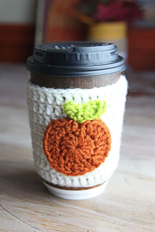 diy pumpkin cup cozy 2 - 30+ Fall Craft Ideas to Make and Sell for Extra Money