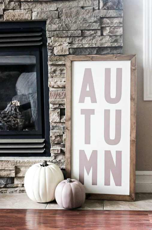 diy reversible fall sign - 30+ Fall Craft Ideas to Make and Sell for Extra Money