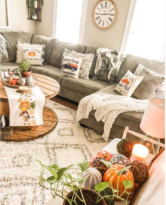 Living Room Ideas To Fall In Love With: 21 Best Fall Decor Ideas You'll Love