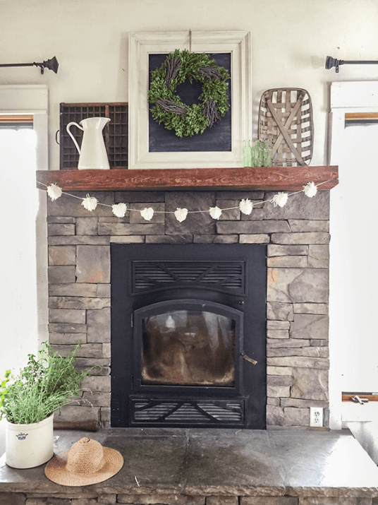 farmhouse mantel - 18 Cheap and Easy DIY Rustic Farmhouse Home Decor Ideas