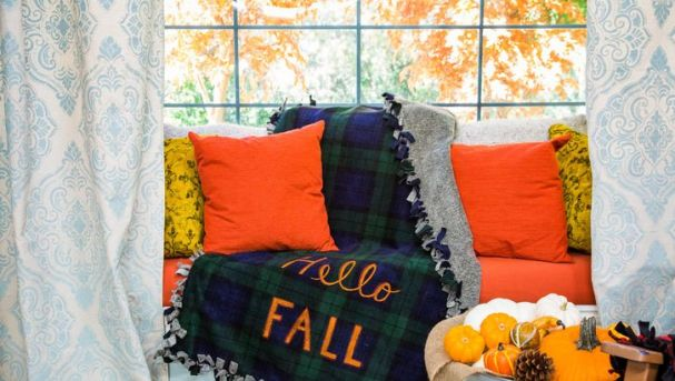 hello fall blanket - 30+ Fall Craft Ideas to Make and Sell for Extra Money