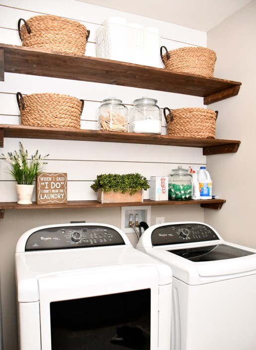 laundry room makeover - 18 Cheap and Easy DIY Rustic Farmhouse Home Decor Ideas