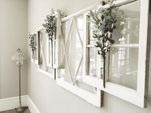 window wall decor - 18 Cheap and Easy DIY Rustic Farmhouse Home Decor Ideas