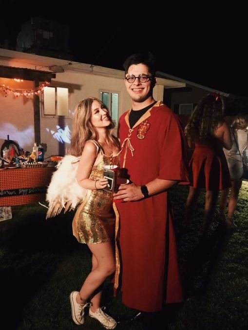 harry potter and the snitch - 50 Best Couples Halloween Costume Ideas for 2019