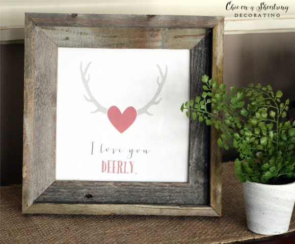 Valentine's Day Rustic Wood Sign