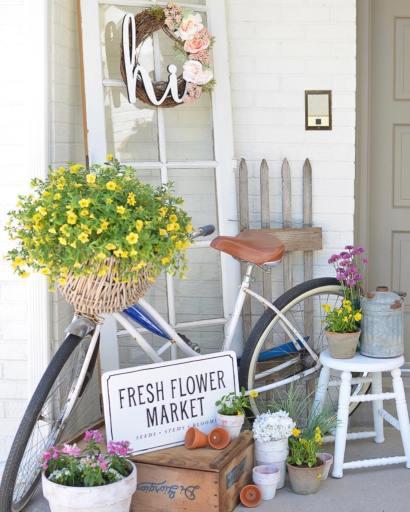 rustic chic summer porch decor