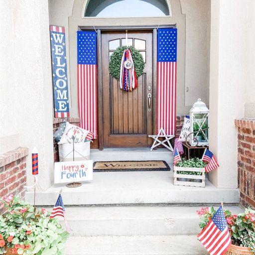 Patriotic summer Porch