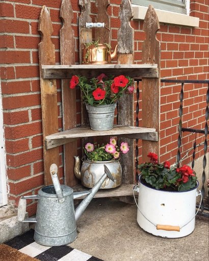 upcycled porch decor