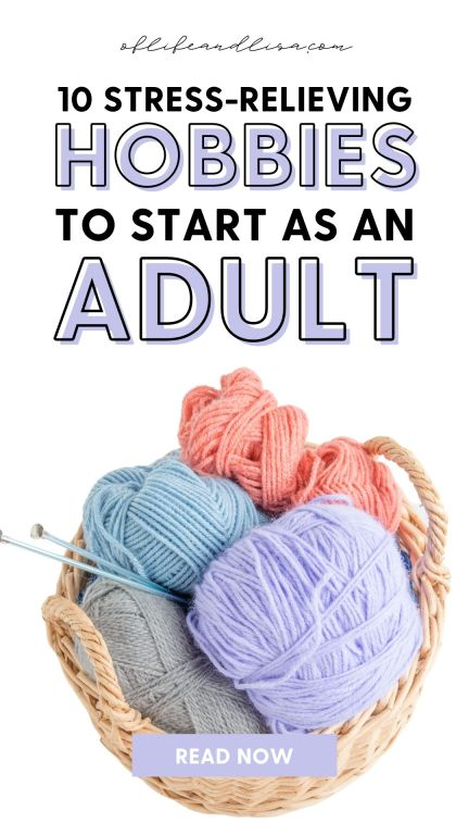 Stress relieving hobbies for adults