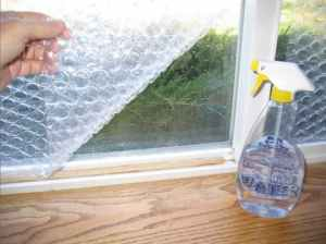 Apply bubble wrap to your windows to keep them insulated in the winter. This will save you money on heating costs when it starts to get cold outside.