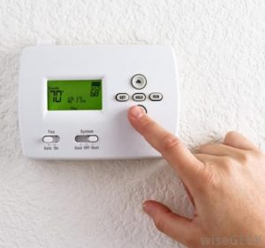 Lower your thermostat during the winter to lower your electric or heating bill.