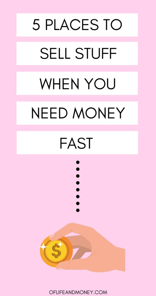 Do you need money ASAP? Check out where you can sell stuff that you have on hand to put cash back into your pockets as soon as today.